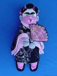 Art: Geisha Monkey by Artist Tina Marie Ferguson