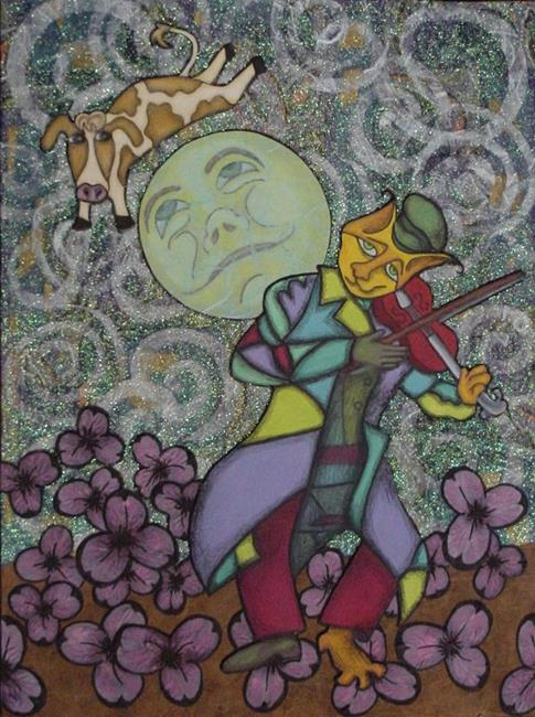 Art: Chagall's Hey Diddle Diddle by Artist Tina Marie Ferguson