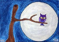 Art: DALI OWL by Artist Tina Marie Ferguson