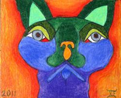 Art: Here Kitty Kitty by Artist Tina Marie Ferguson