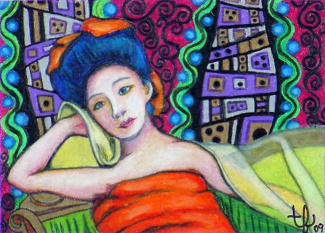 Art: Klimt's Geisha by Artist Tina Marie Ferguson
