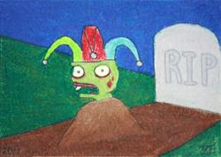 Art: Zombie Clown by Artist Tina Marie Ferguson