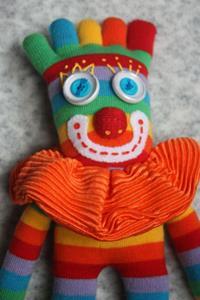 Detail Image for art Sock It Toe Me Clown