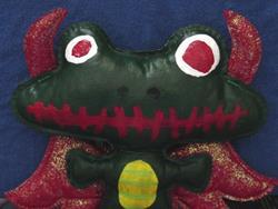 Art: Demon Frog by Artist Tina Marie Ferguson