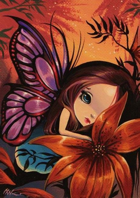 resting in flowers  by nico niemi from fairies, Beautiful flower