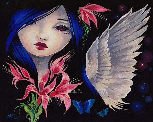 Art: Starlit Night Angel by Artist Nico Niemi