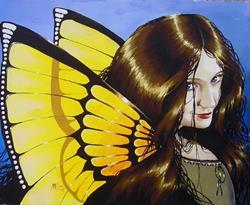 Art: Yellow Wings by Artist Nico Niemi