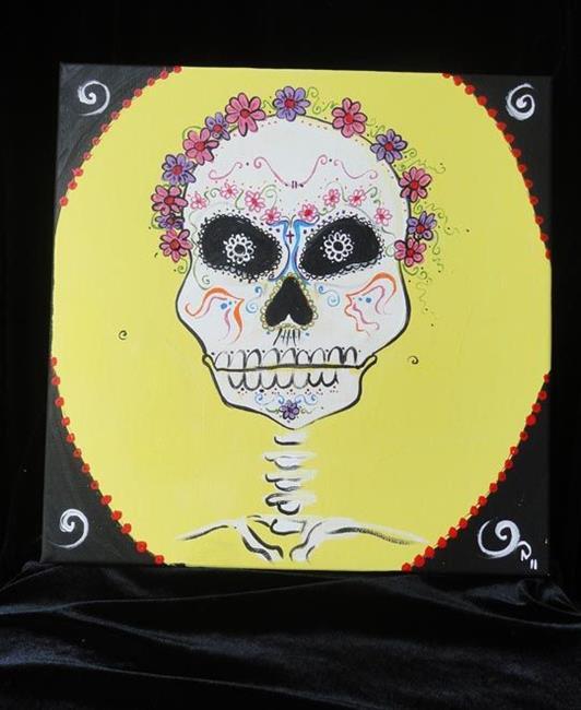 Art: Day of the Dead Skull #1 by Artist Noelle Hunt