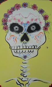 Detail Image for art Day of the Dead Skull #1
