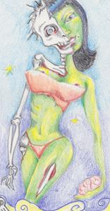 Detail Image for art zombie pin full