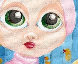 Detail Image for art Princess Bathtub Bunny
