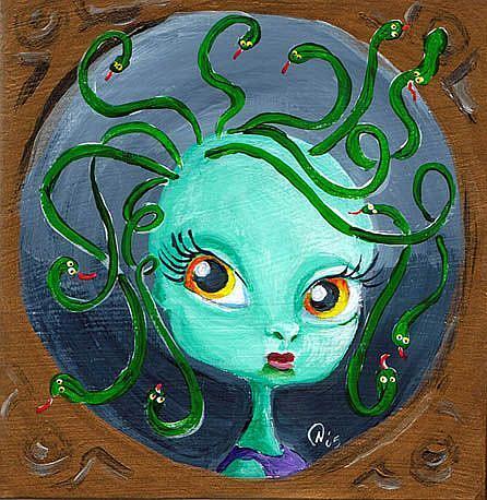 Art: Medusa's baby Picture by Artist Noelle Hunt