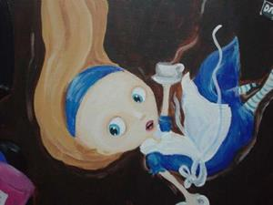 Detail Image for art Alice down the rabbit hole