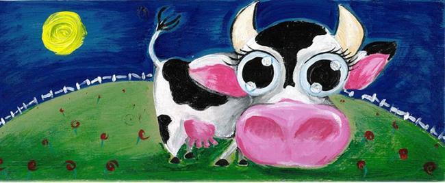 Art: Toy cow by Artist Noelle Hunt