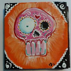 Art: Sugar Skull #1 by Artist Noelle Hunt