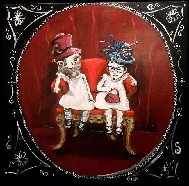 Art: Little Children should be seen and not heard by Artist Noelle Hunt