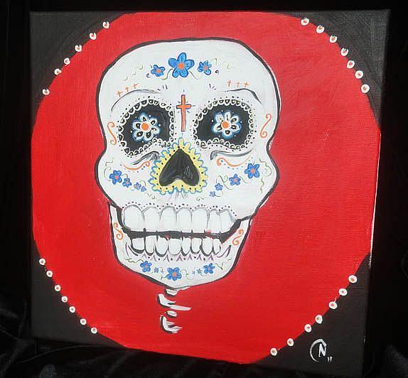 Art: Day Of the Dead #3 by Artist Noelle Hunt