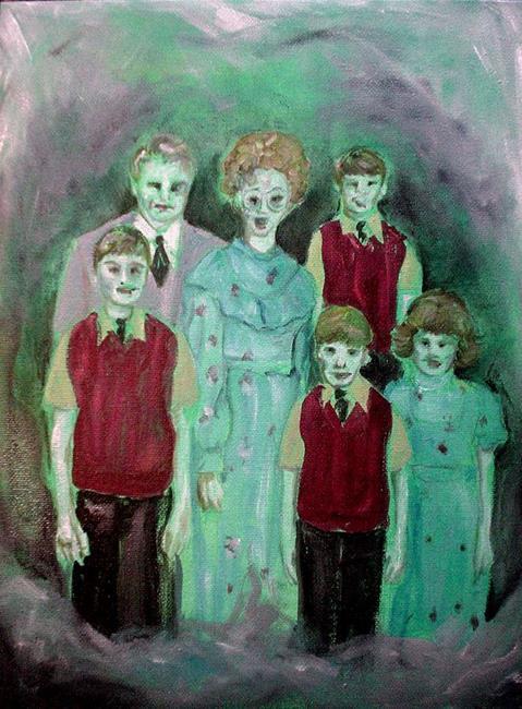 Art: The Zombie Family Singers by Artist Noelle Hunt