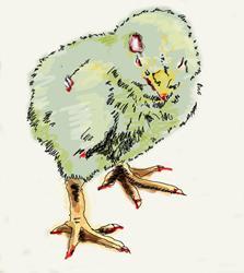 Art: How Sweet a Zombie Chick by Artist Noelle Hunt