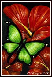 Art: Red Blooms by Artist Elaina Wagner