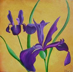 Art: Iris Delight by Artist Padgett Mason