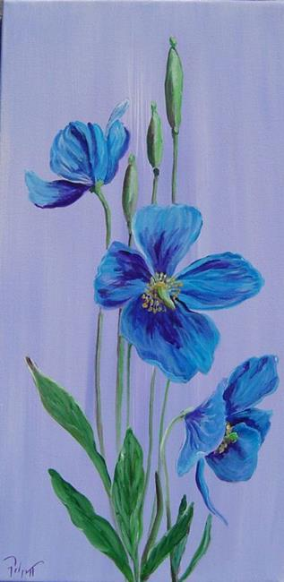 Art: Blue Poppies 2 by Artist Padgett Mason