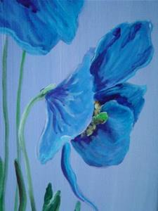 Detail Image for art Blue Poppies 2