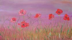 Art: Dancing Poppies by Artist Padgett Mason