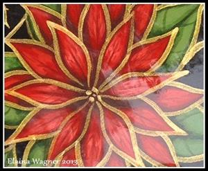 Detail Image for art Red & Gold Poinsettia