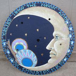Art: Cresent Moon Plow Disk by Artist Shelly Bedsaul