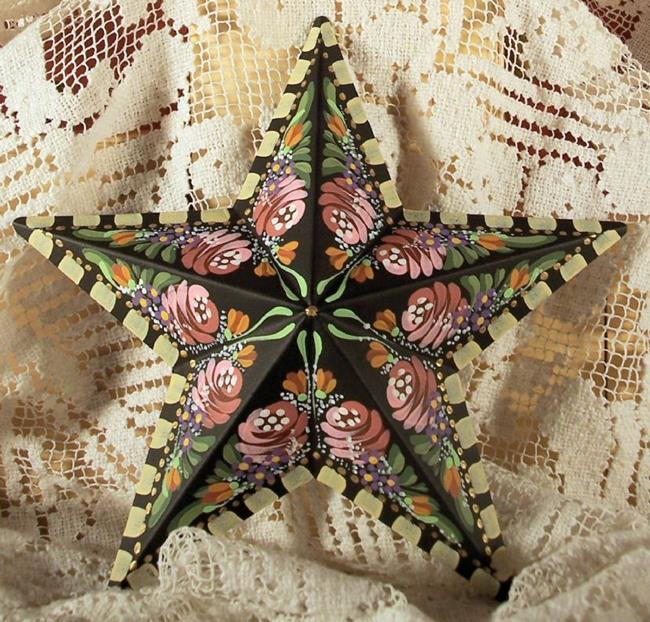 Art: Rose Star 3 (sold) by Artist Shelly Bedsaul