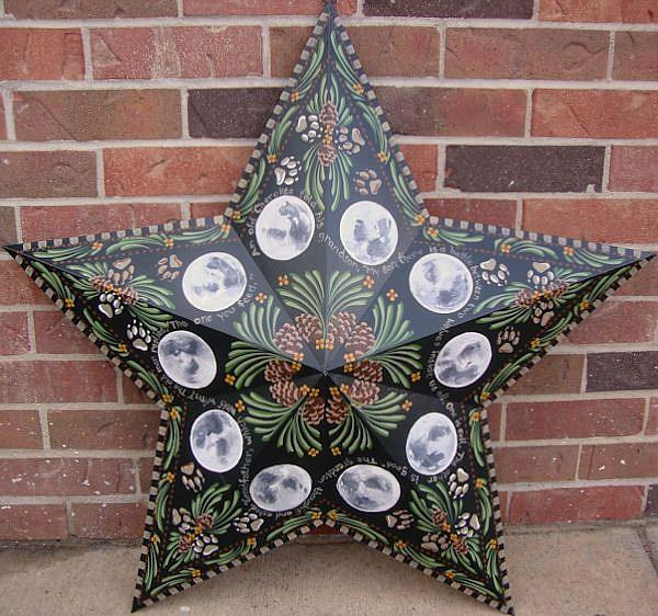 Art: Wolf Moon Star (sold) by Artist Shelly Bedsaul