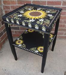 Art: Sunflower Table by Artist Shelly Bedsaul