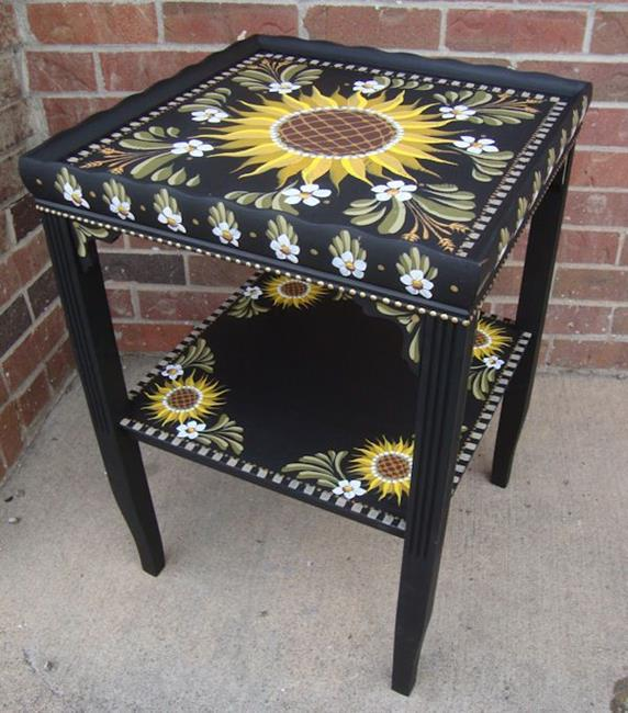 Art: Sunflower Table by Artist Shelly Bedsaul