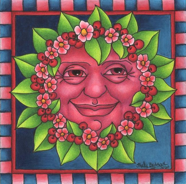 Art: Cherry Moon by Artist Shelly Bedsaul