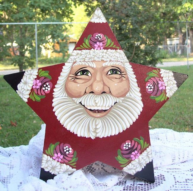 Art: Santa Star Box lg by Artist Shelly Bedsaul
