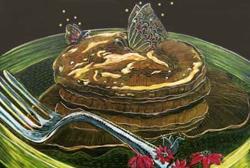 Art: Apple Pancakes with Butterflies by Artist Naquaiya