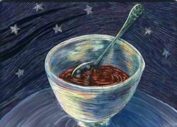Art: Chocolate Pudding with Stars by Artist Naquaiya