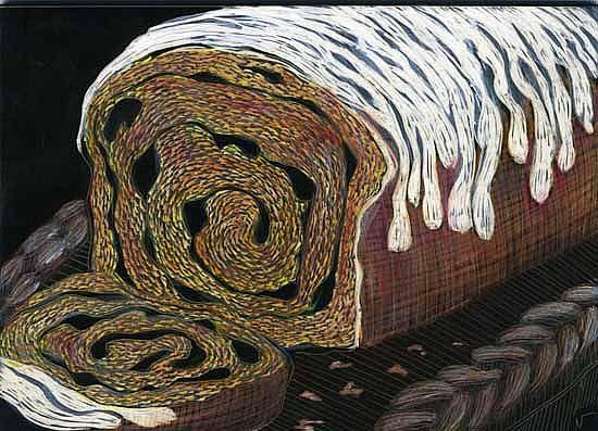 Art: Raisin Cinnamon Bread by Artist Naquaiya