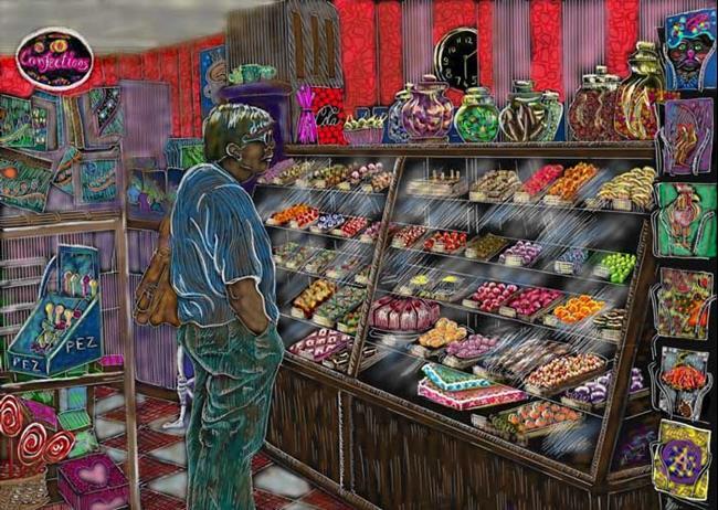 Art: Candystore by Artist Naquaiya