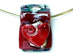Art: Heart Pendant by Artist Deborah Sprague
