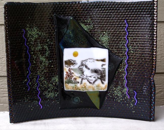 Art: Glass Horse Sculpture by Artist Deborah Sprague