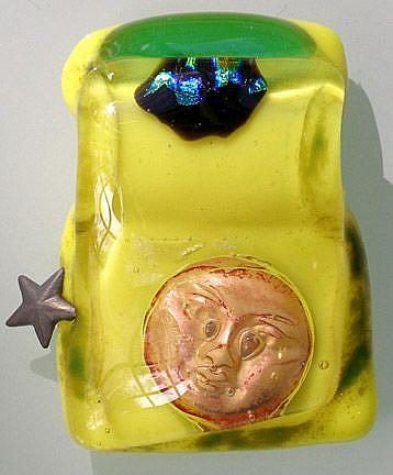 Art: Moon and STAR pendant by Artist Deborah Sprague