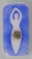Art: Mother Goddess Fused Glass Brooch by Artist Deborah Sprague