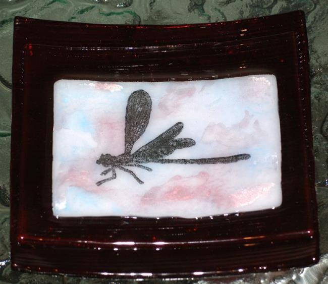 Art: Dragonfly Dish by Artist Deborah Sprague