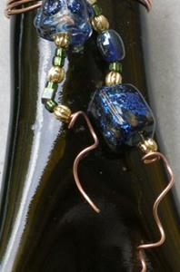 Detail Image for art Slumped Wine bottle