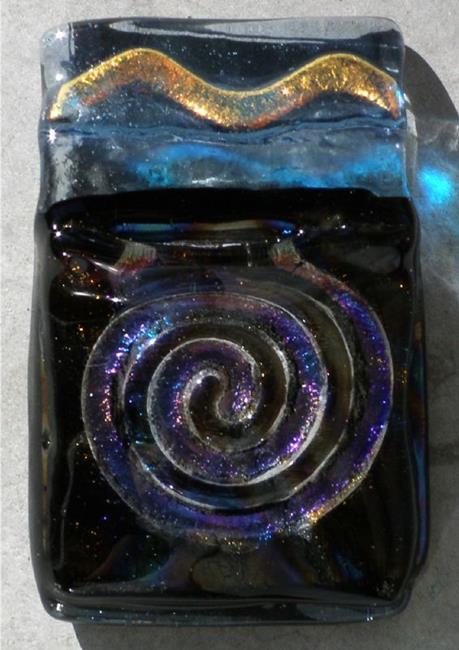 Art: Spiral Abstract pendant by Artist Deborah Sprague
