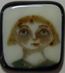 Art: Fused Painted Pendant by Artist Dianne McGhee