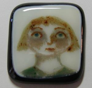 Detail Image for art Fused Painted Pendant