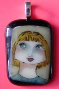 Detail Image for art Hand Painted Glass Pendant
